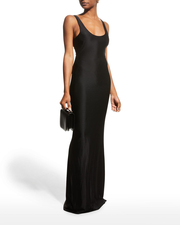 Suez Scoop-Neck Long Dress