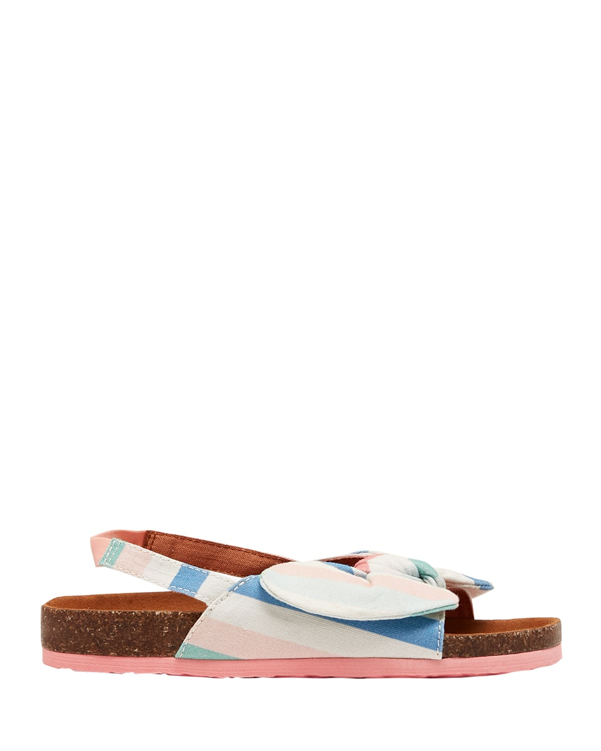Girl's Bayside Striped Bow Sandals