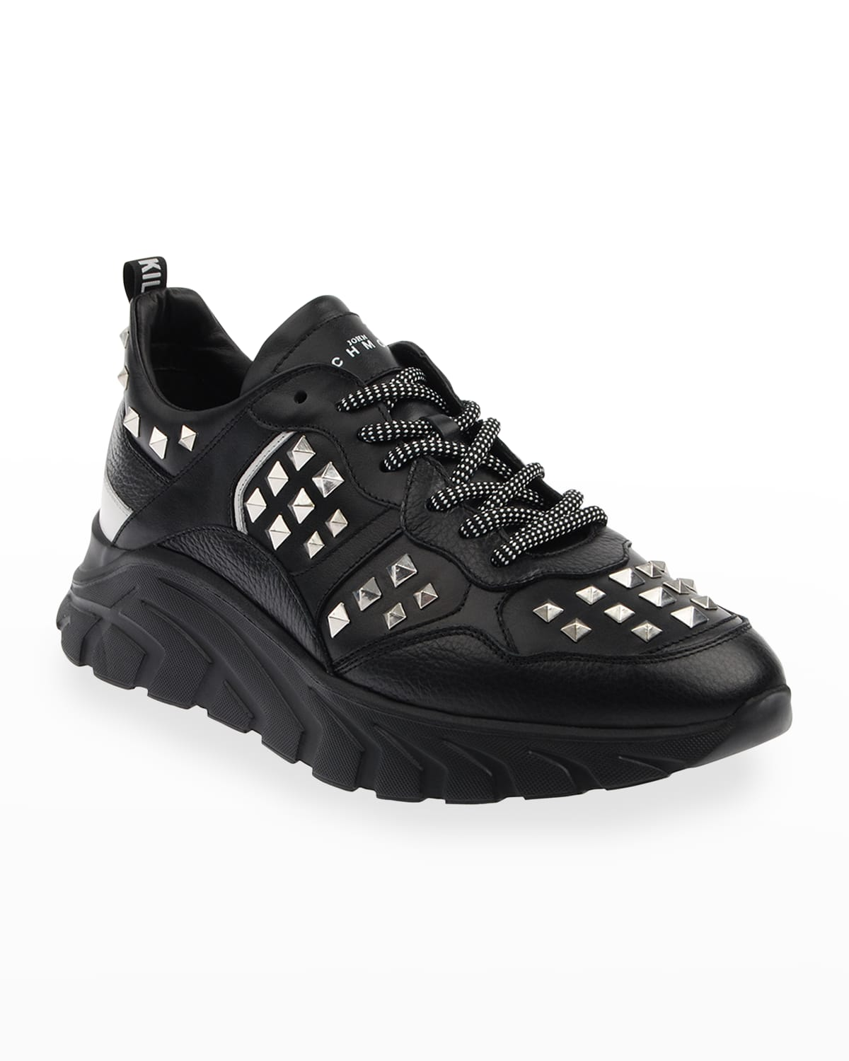 Men's Studded Leather Chunky Sneakers