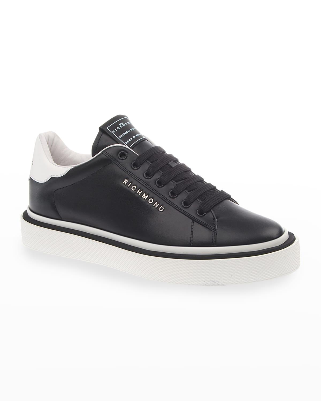 Men's Two-Tone Logo Low-Top Sneakers