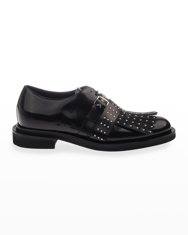 Men's Studded Fringe & Buckle Loafers