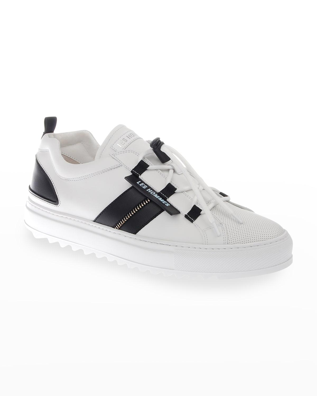 Men's Two-Tone Logo Zip Sneakers