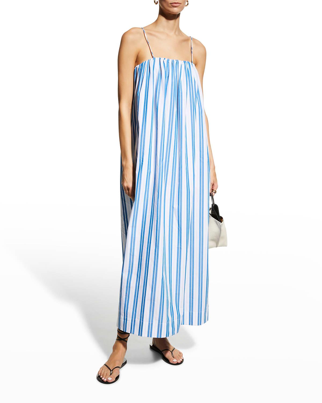 Striped Cotton Coverup Dress