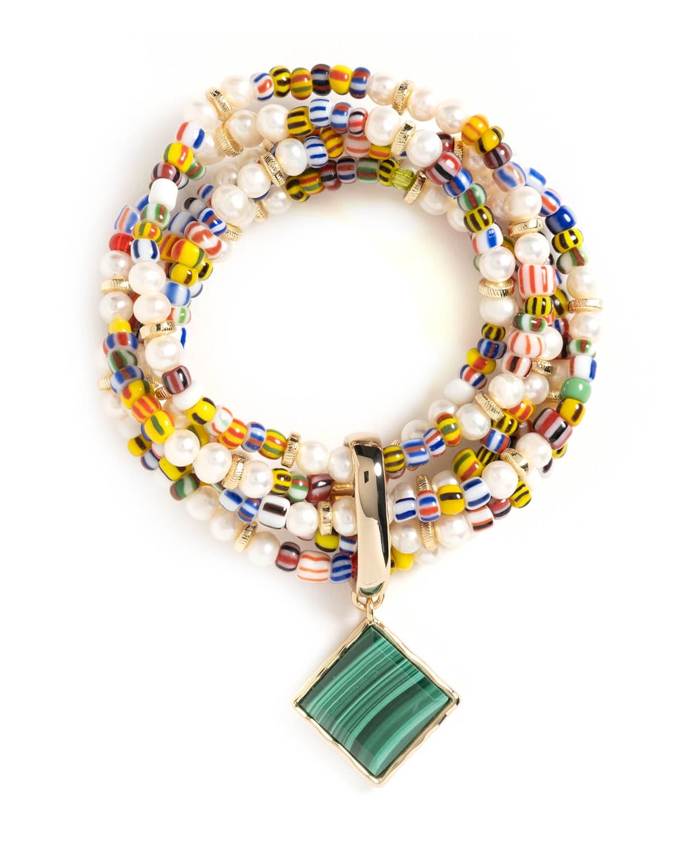 Angelica 6-Strand Beaded Stretch Bracelet