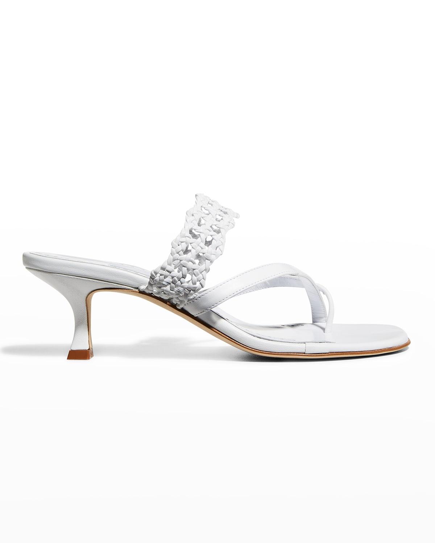 Susa Braided-Leather Slide Sandals