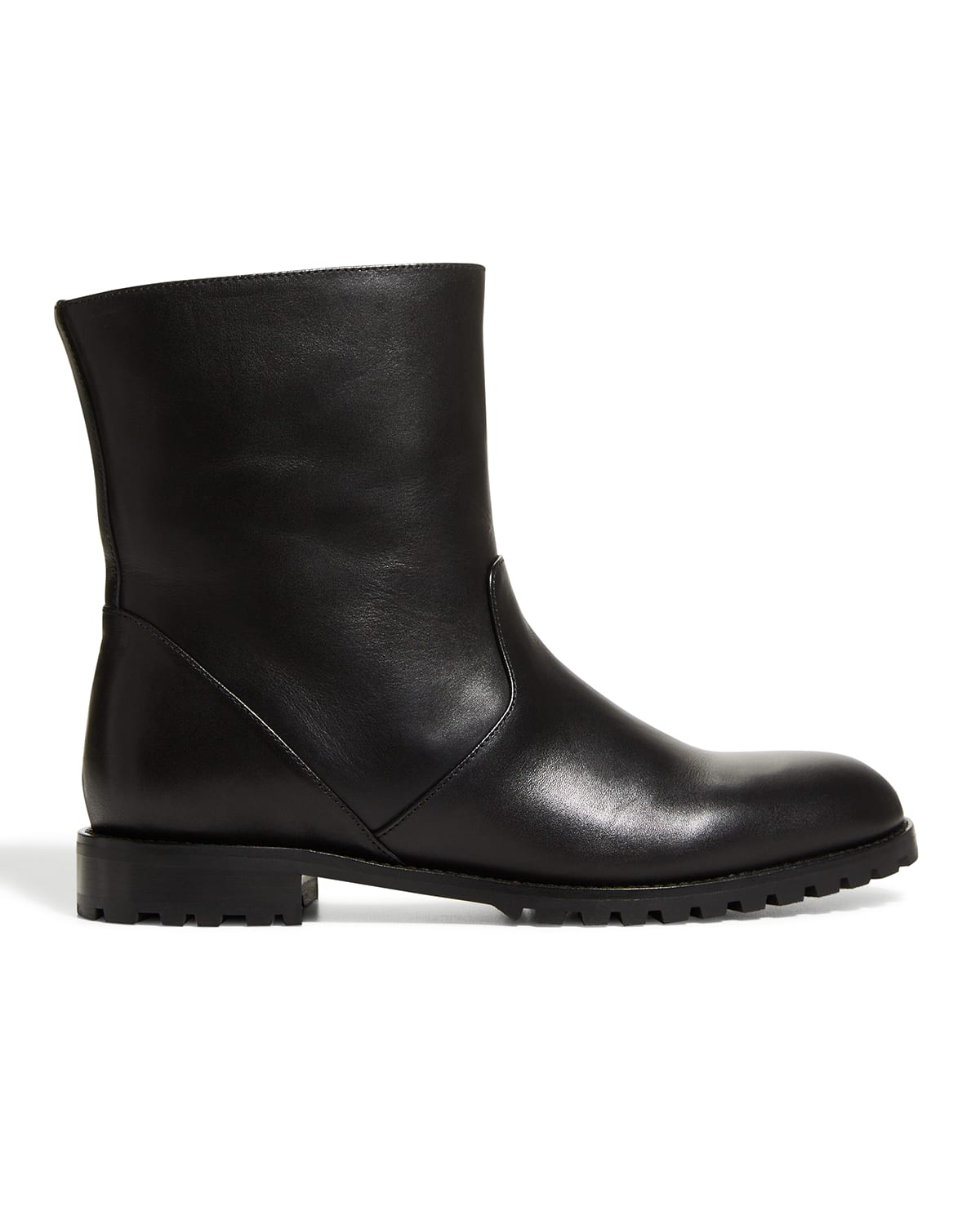 Motosa Calf Leather Ankle Boots