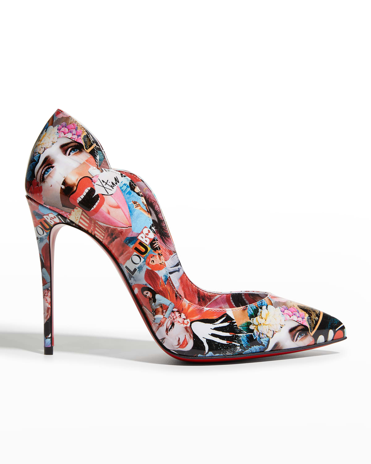 Hot Chick Graphic Love Red Sole Pumps