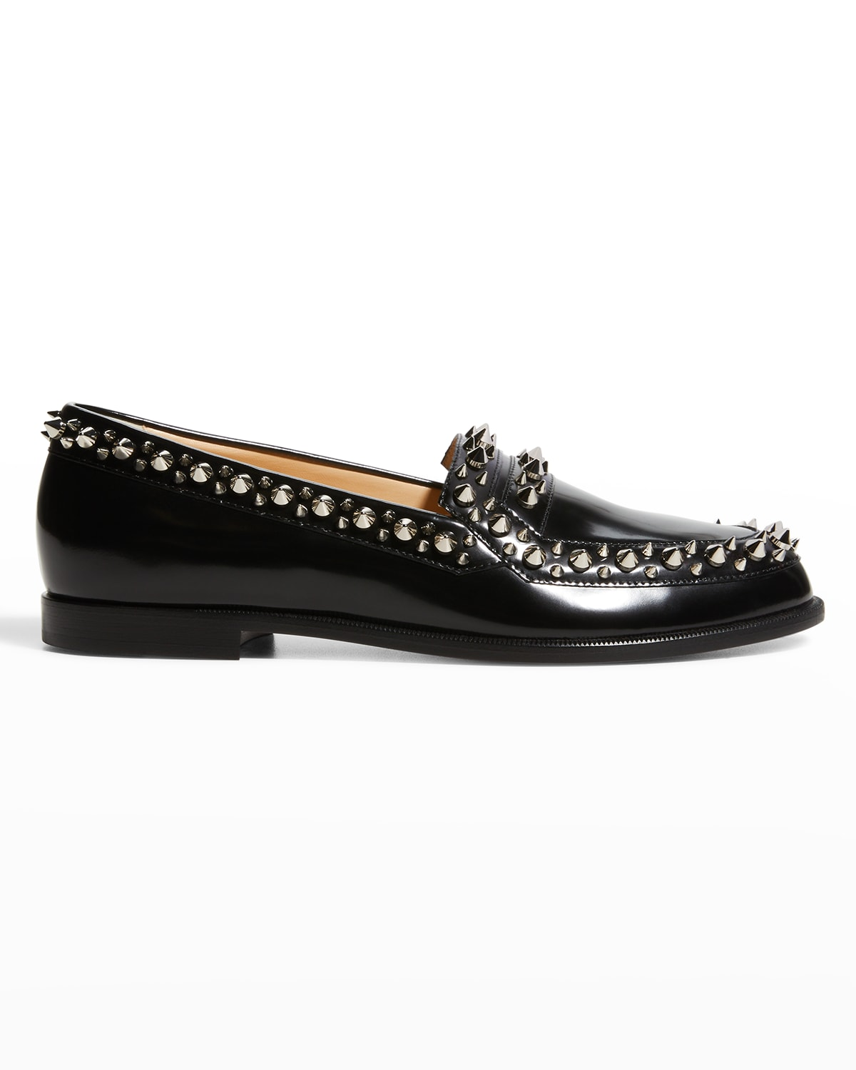 Mattia Spikes Donna Leather Loafers