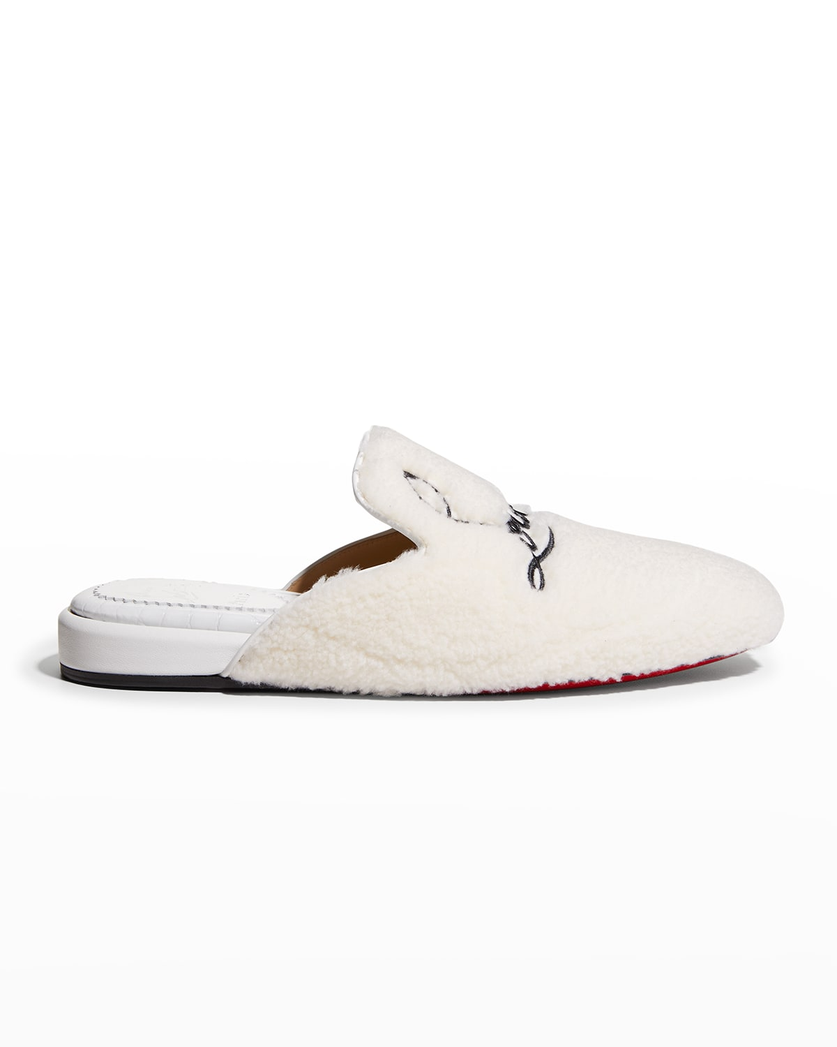 Donna Coolito Faux Fur Logo Slippers