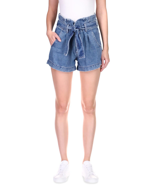 Camile Denim Paperbag Shorts