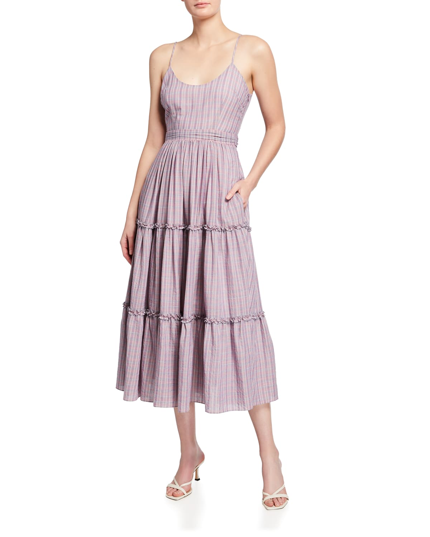 Belle Midi Plaid Dress