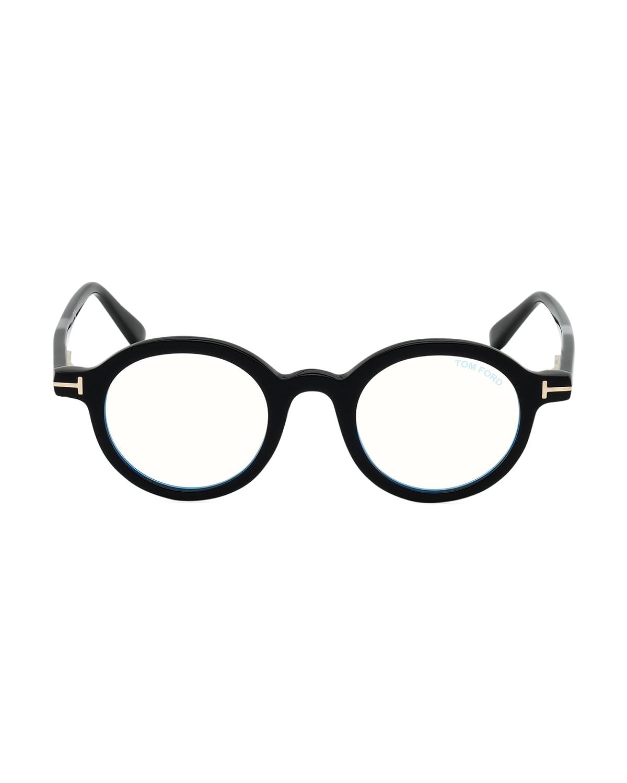 Men's Ft5664 Blue-Block Optical Frames