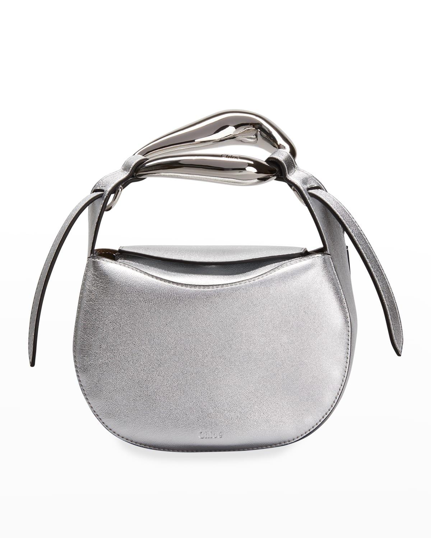 Kiss Metallic Ring Top-Handle Crossbody Bag
