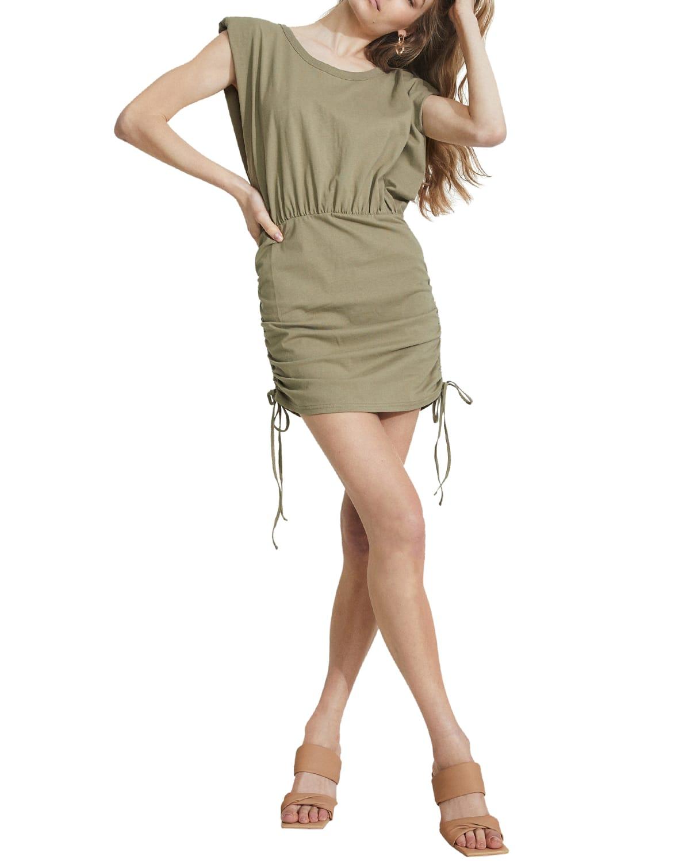Toni Drawstring Mini Dress