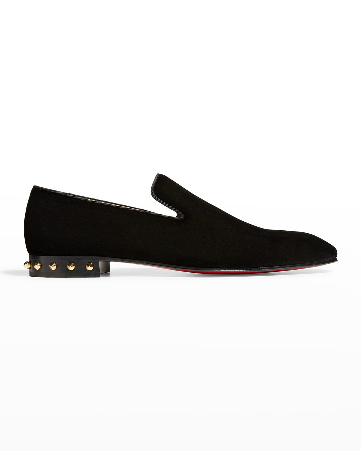 Men's Marquees Velvet Spike Red Sole Loafers