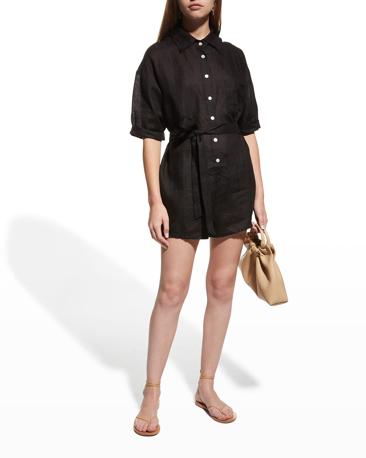 Playa Coverup Button-Front Romper