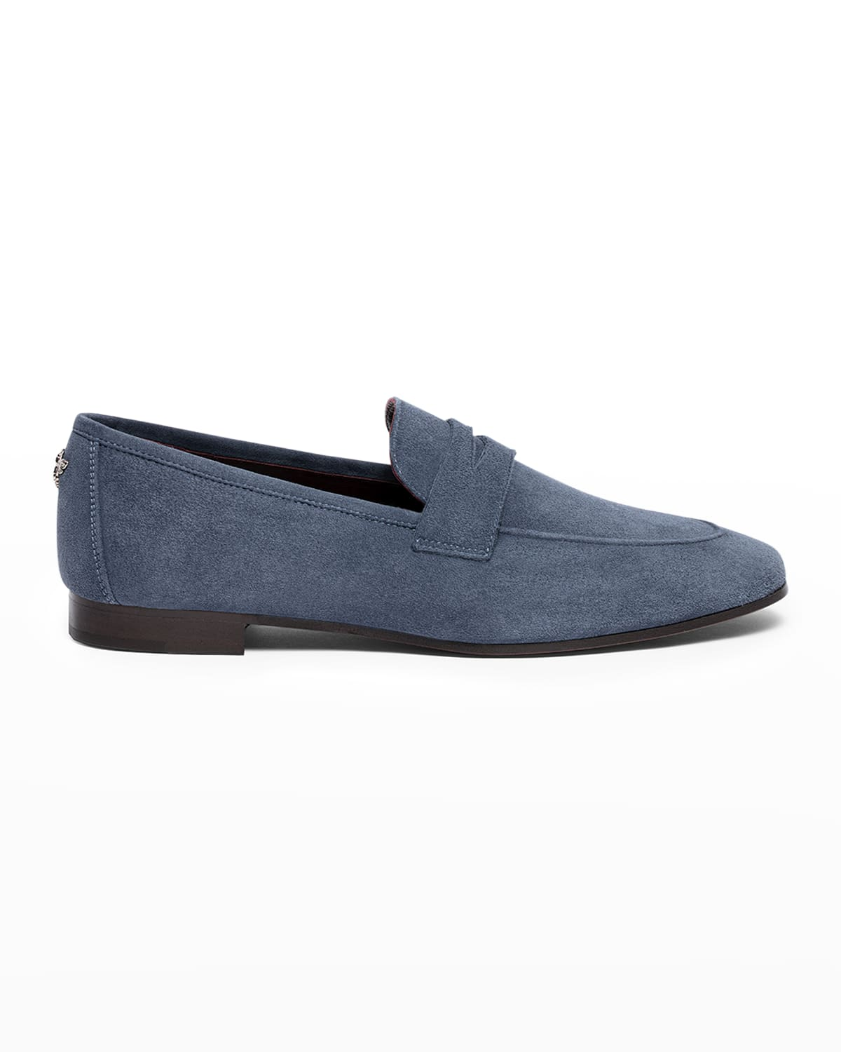 Bee Stud Suede Penny Loafers