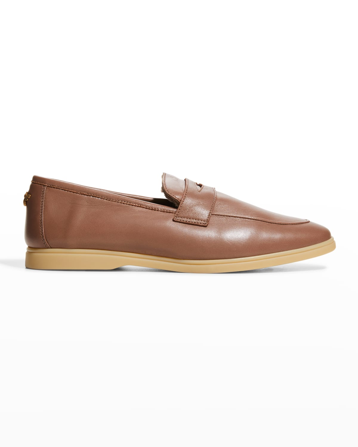 Leather Shearling Penny Loafers