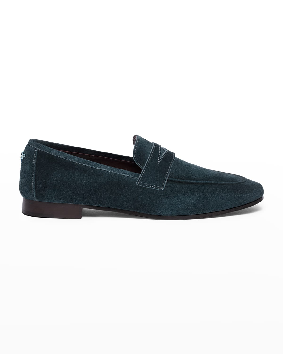 Suede Slip-On Penny Loafers