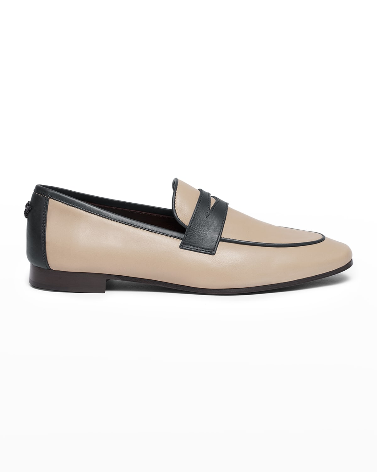 Bicolor Leather Penny Loafers