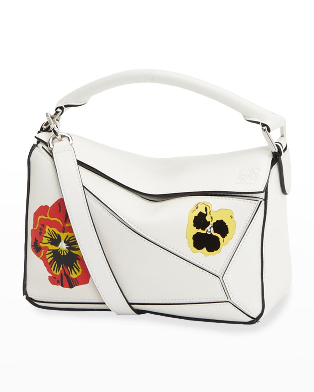 Puzzle Small Pansies Satchel Bag