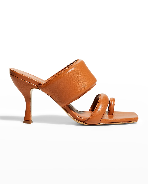 80mm Lambskin Toe-Ring Slide High-Heel Sandals