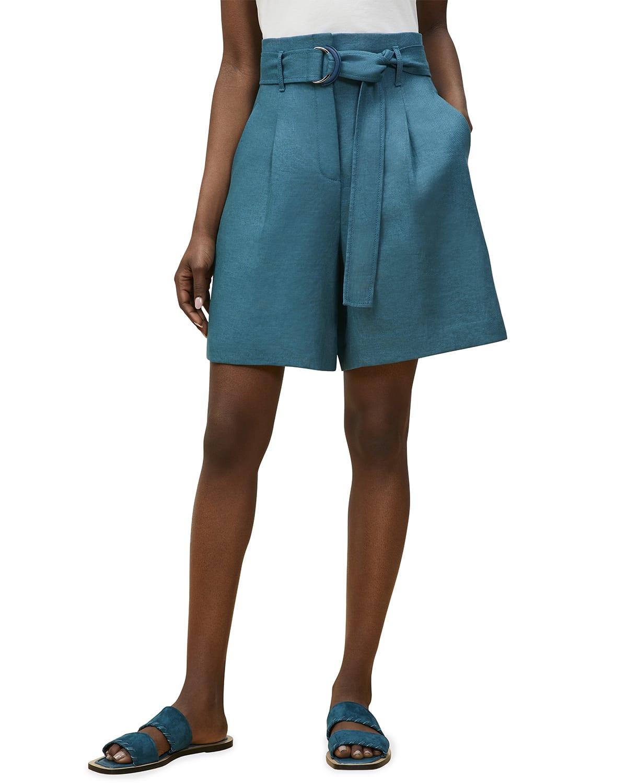 Degraw Belted Linen Shorts