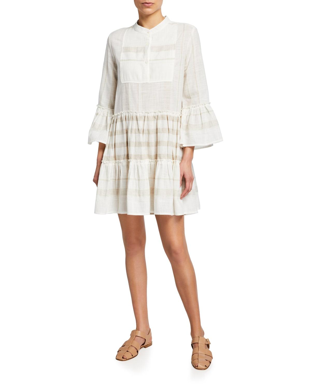 Marisol Tiered Linen Flounce Dress