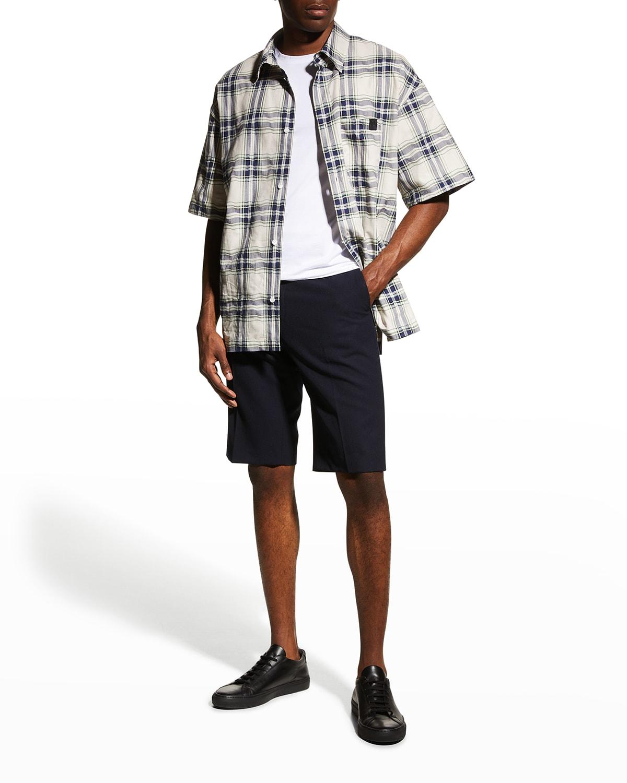 Men's Patchwork Check Sport Shirt
