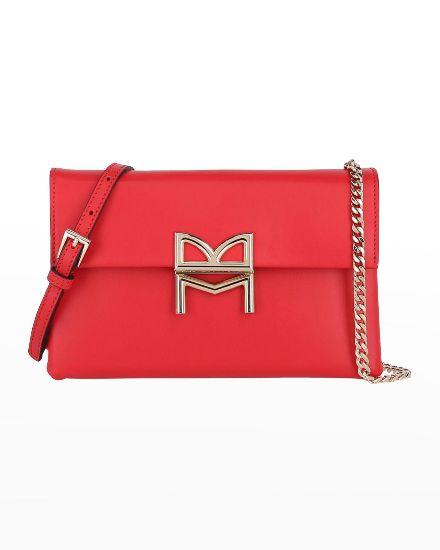 Micro Flap Leather Crossbody Bag