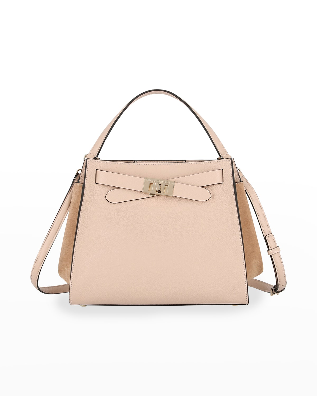 1936 Mix-Leather Top-Handle Satchel Bag