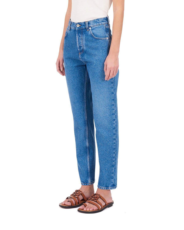 Leather Anagram Pocket Denim Jeans
