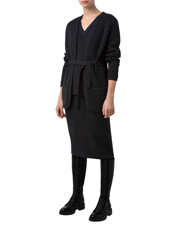 Belted Wool Cardigan