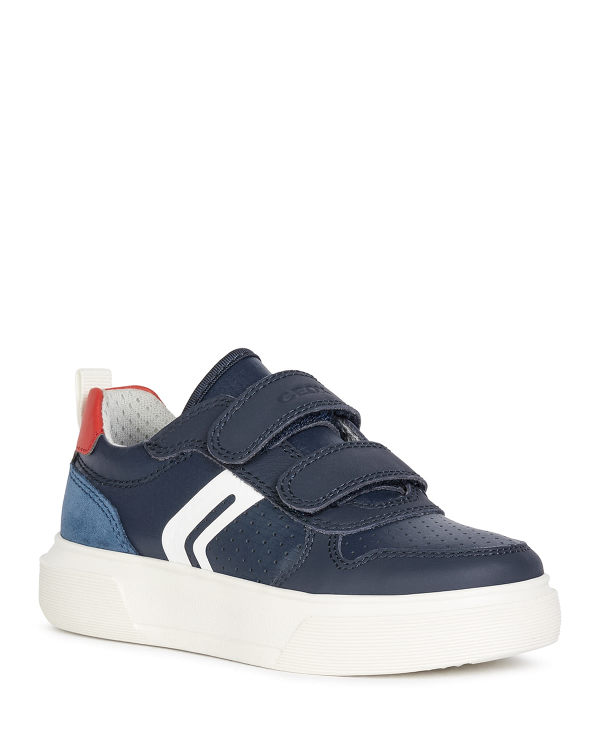 Boy's Nettuno Perforated Grip-Strap Sneakers