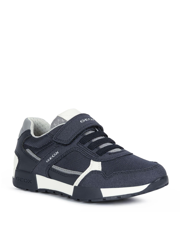 Boy's Alfier Faux-Leather Grip-Strap Sneakers