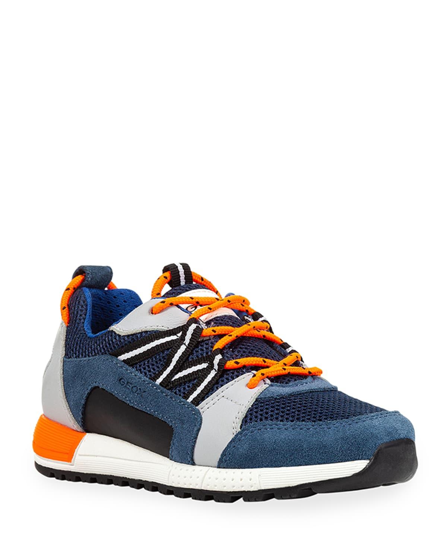 Boy's Alben Mesh Suede Runner Sneakers