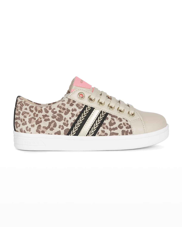 Girl's DJ Rock Zebra-Print Low-Top Sneakers
