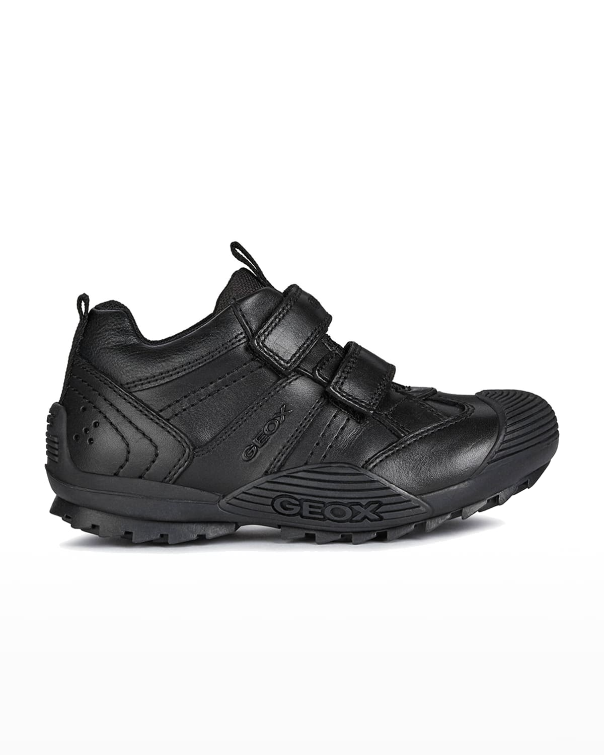 Boy's Savage Mix-Leather Grip-Strap Sneakers
