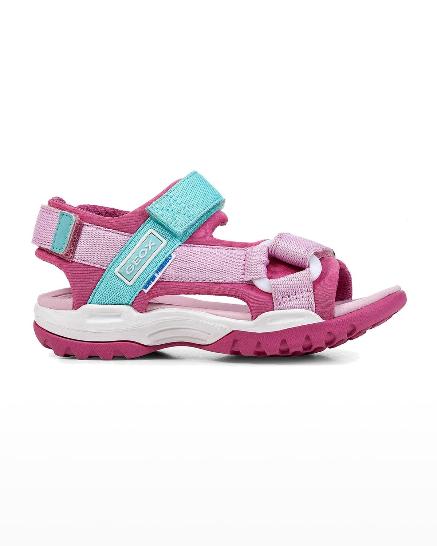 Girl's Borealis Water-Repellant Grip-Strap Sport Sandals