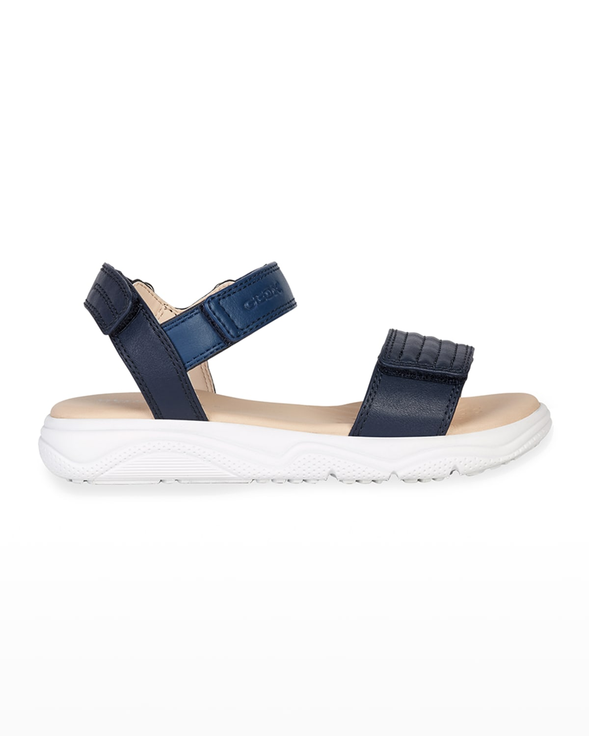 Girl's Faux-Leather Sport Sandals