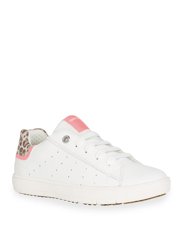 Girl's Silenex Leopard-Print Low-Top Sneakers