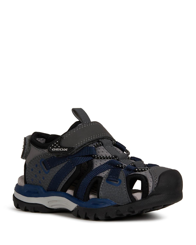 Boy's Borealis Caged Grip-Strap Sandals