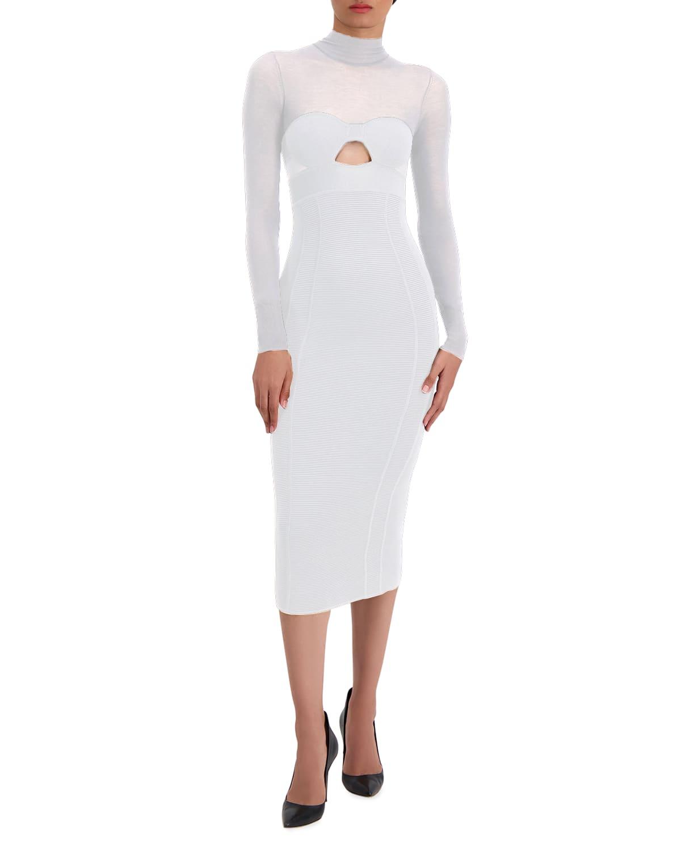 Corset Cutout Body-Con Midi Dress