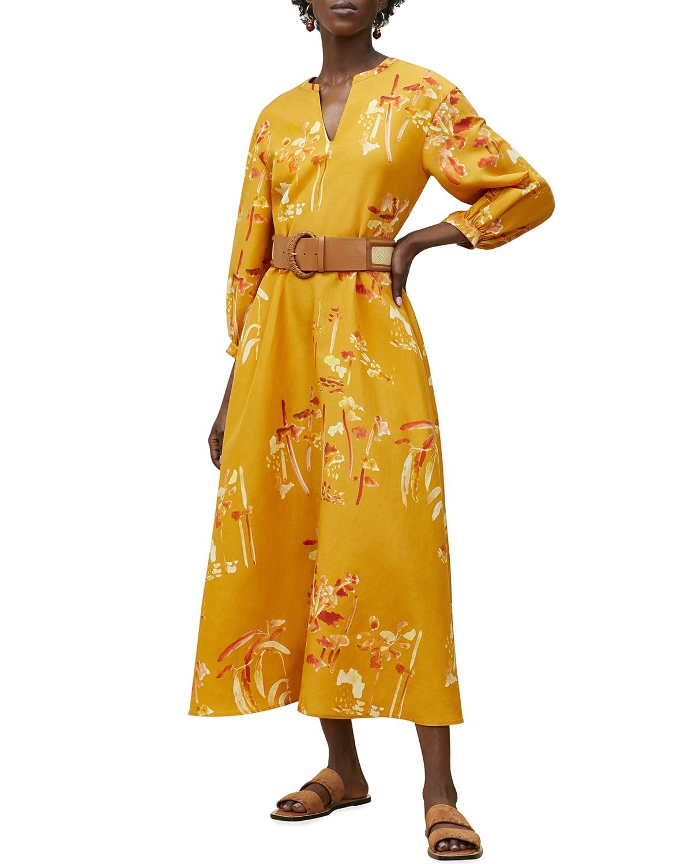 Leona V-Neck A-Line Long Dress
