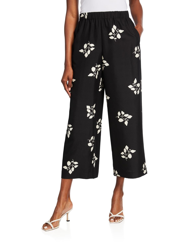 Riverside Cropped Silk Pants