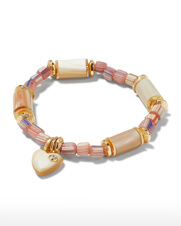 Jasmine Horn Heart Charm Bracelet