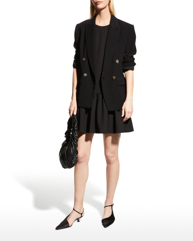 Marlee Sleeve Flounce-Hem Mini Dress