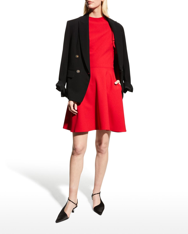 Pabla Asymmetric-Sleeve Dress
