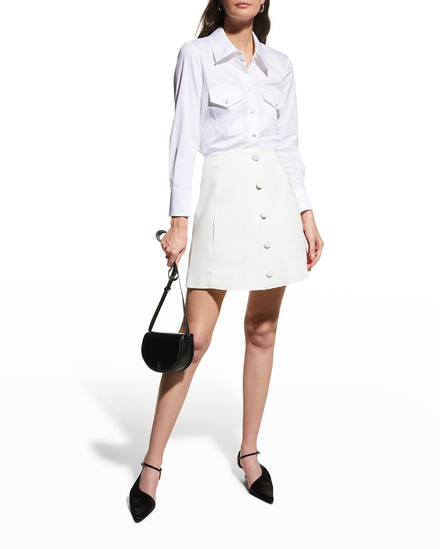 Sam Button Mini Skirt