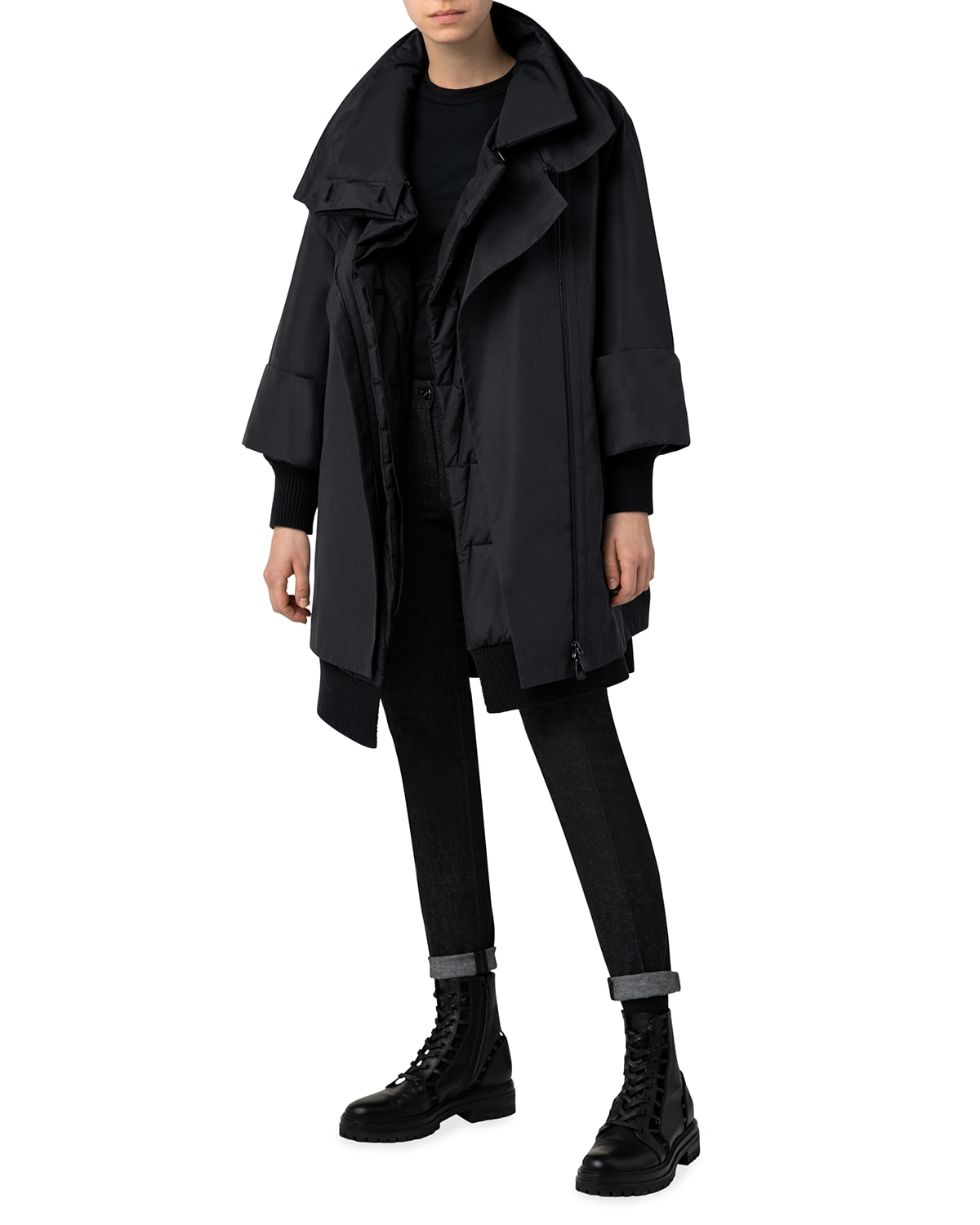 2 in 1 Trapezoid Quilted Parka